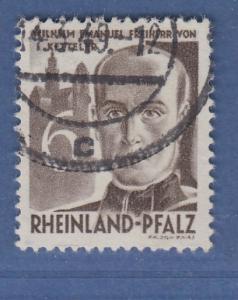 Französische Zone Rhl.-Pfalz Ketteler 6Pfg. Mi.-Nr. 35 O gepr. Schlegel