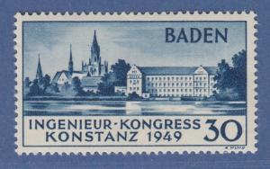 Franz. Zone Baden Konstanz seltene Type II Mi-Nr. 46 II * doppelt gepr. Schlegel