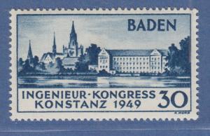 Franz. Zone Baden Konstanz Type I Mi-Nr. 46 I ungebraucht *