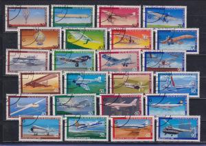 Bund / Berlin 1978-1980 Luftfahrt / Flugzeuge alle 6 Jugendsätze kpl. gestempelt