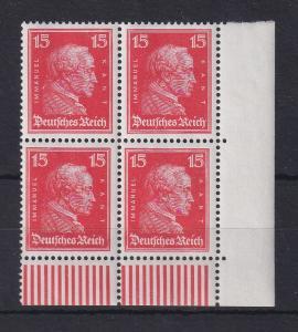 Deutsches Reich 1926 Kant 15Pfg. Mi.-Nr. 391 Eckrand-Viererblock **