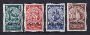 Deutsches Reich 1933 Nothilfe Mi.-Nr. 508-511 Satz 4 Werte kpl. sauber ungebr. *