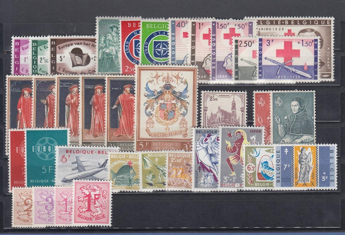 Belgien 1959 Briefmarken-Jahrgang komplett **  0