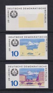 DDR 1969 Set 3 Phasendrucke Mi.-Nr. 1495 20 Jahre DDR Rostock