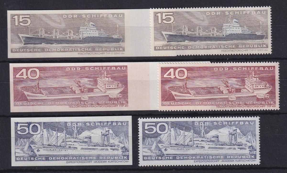 DDR 1971 Schiffe UNGEZÄHNTE Marken ** Mi.-Nr. 1694, 1697, 1698 0