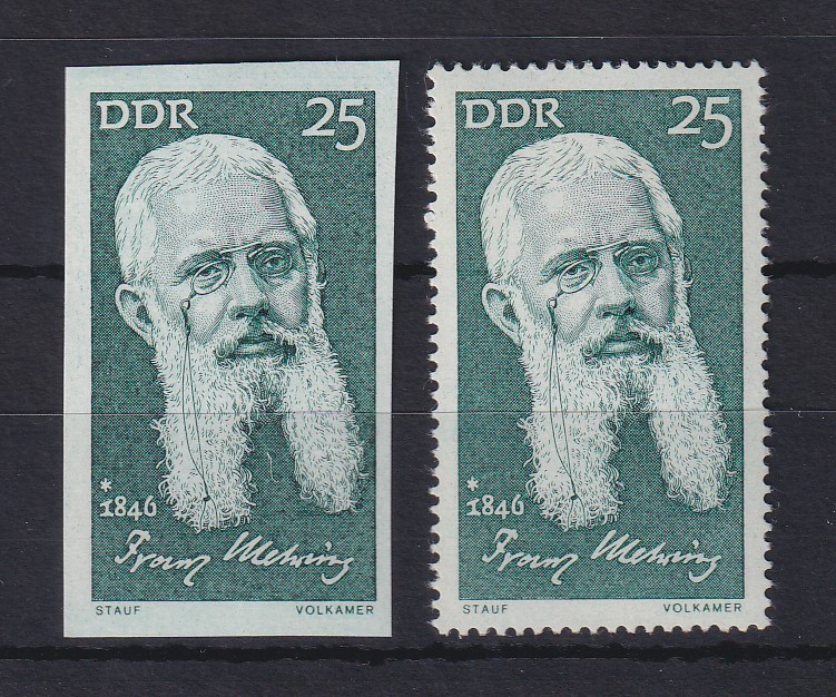 DDR 1971 Franz Mehring UNGEZÄHNTE Marke ** Mi.-Nr. 1648 0