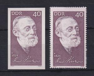 DDR 1971 Rudolf Virchow  UNGEZÄHNTE Marke ** Mi.-Nr. 1707