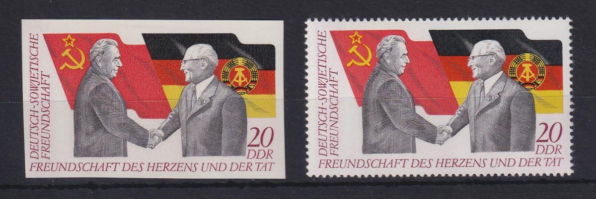 DDR 1972 Treffen Breschnew und Honecker UNGEZÄHNTE Marke ** Mi.-Nr. 1760 0