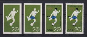 DDR 1968 kpl. Serie Phasendrucke Mi.-Nr. 1406 Olympische Spiele Fussball **