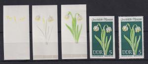 DDR 1969 kpl. Serie Phasendrucke Mi.-Nr. 1456 Märzenbecher **