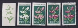 DDR 1969 kpl. Serie Phasendrucke Mi.-Nr. 1459 Türkenbund **