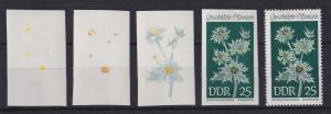 DDR 1969 kpl. Serie Phasendrucke Mi.-Nr. 1460 Stranddistel **