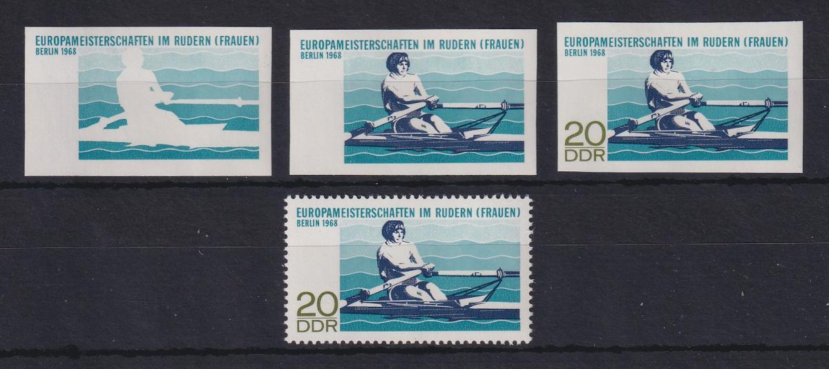 DDR 1968 kpl. Serie Phasendrucke Mi.-Nr. 1373  Ruder-Europameisterschaften **  0