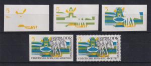 DDR 1969 kpl. Serie Phasendrucke Mi.-Nr. 1483  Turn- und Sportfest Leipzig **