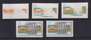 DDR 1969 kpl. Serie Phasendrucke Mi.-Nr. 1485  Turn- und Sportfest Leipzig **