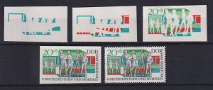 DDR 1969 kpl. Serie Phasendrucke Mi.-Nr. 1486  Turn- und Sportfest Leipzig **