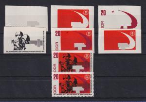 DDR 1967 kpl. Serie Phasendrucke Mi.-Nr. 1315  Oktoberrevolution 20Pfg **