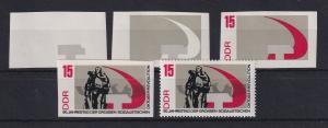 DDR 1967 kpl. Serie Phasendrucke Mi.-Nr. 1314  Oktoberrevolution 15Pfg **