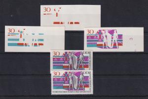 DDR 1969 kpl. Serie Phasendrucke Mi.-Nr. 1488  Turn- und Sportfest Leipzig **