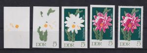 DDR 1970 kpl. Serie Phasendrucke Mi.-Nr. 1625 Blattkaktus 5 Pfg **