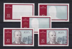 DDR 1970 kpl. Serie Phasendrucke Mi.-Nr. 1557 Lenin 10 Pfg **