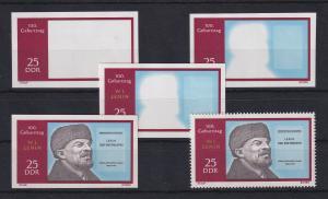 DDR 1970 kpl. Serie Phasendrucke Mi.-Nr. 1559 Lenin 25 Pfg **
