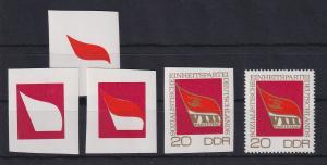 DDR 1971 kpl. Serie Phasendrucke Mi.-Nr. 1679 SED-Parteitag **