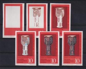 DDR 1971 kpl. Serie Phasendrucke Mi.-Nr. 1708 Musikinstrumente **