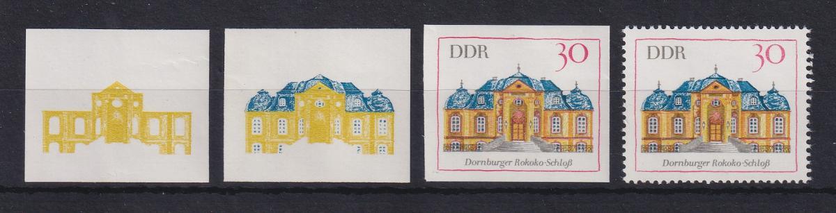 DDR 1969 3 Phasendrucke Mi.-Nr. 1438 Dornburger Schloss 0