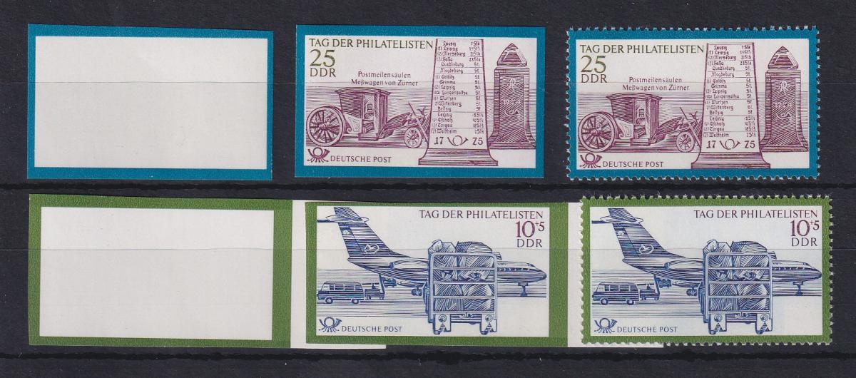 DDR 1971 4 Phasendrucke Mi.-Nr. 1703-04 Tag der Philatelisten 0