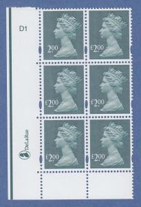 Großbritannien 2003 Elizabeth II Machin 2-Pfund-Wert FEHLDRUCK ohne Pfundzeichen