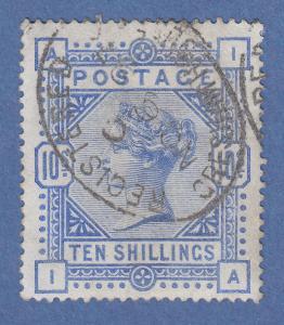 Großbritannien 1884 Victoria 10 Shilling-Wert Mi.-Nr. 84a gestempelt. ANSEHEN