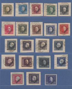 Österreich Feldpost Serbien Mi.-Nr. 22-42 kpl. Satz gestempelt meist Briefstücke