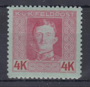Österreich Feldpost  Karl I. Wert 4 Kronen in besserer B-Zähnung Mi.-Nr. 71B **