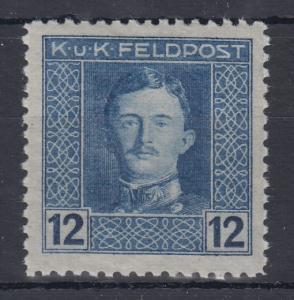 Österreich Feldpost  Karl I. Wert 12 Heller in besserer B-Zähnung Mi.-Nr. 59B **