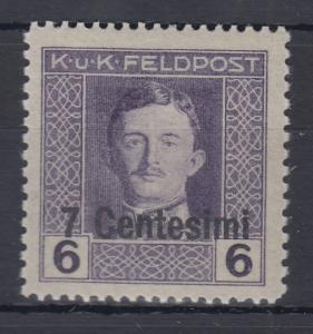 Österreich Feldpost  Italien Karl I. Wert 7 Cent. in  D-Zähnung Mi.-Nr. 5D **