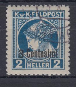 Österreich Feldpost Italien Zeitungsmarke 3 Cent. in  B-Zähnung Mi.-Nr. 20B O