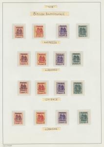 Österreich Feldpost Italien Orstpostmarken KOMPLETTE SERIE alle 72 Werte !