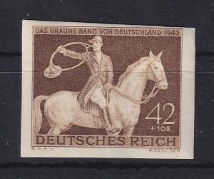 Deutsches Reich 1943 Galopprennen: Das braune Band Mi.-Nr. 854 ungezähnt **