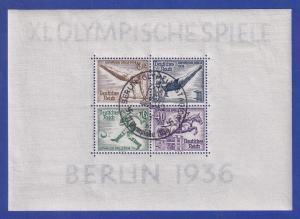 Deutsches Reich Olympische Sommerspiele 1936 Mi.-Nr. Block 5 mit Sonderstempel