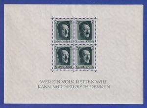 Deutsches Reich 1937 48. Geburtstag von Adolf Hitler Mi.-Nr. Block 7 **