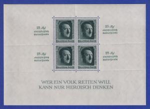 Deutsches Reich 1937 Adolf Hitler, Reichsparteitag  Mi.-Nr. Block 11 **