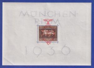 Deutsches Reich 1937 Braunes Band München-Riem  Mi.-Nr. Block 10 **