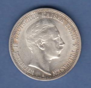 Deutsches Kaiserreich Preußen Wilhelm II. Silbermünze 2 Mark 1904 A sehr schön