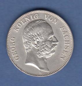 Deutsches Kaiserreich Sachsen König Georg 2 Mark 1904 E vorzügl.-stempelglanz