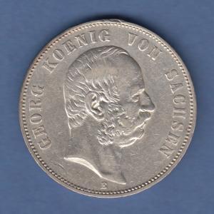 Deutsches Kaiserreich Sachsen König Georg 5 Mark 1903 E sehr schön !