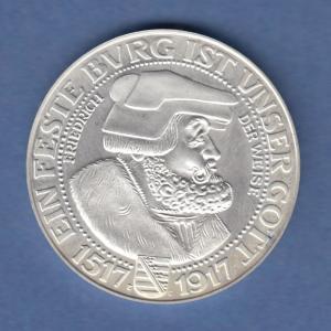 Deutsches Kaiserreich Sachsen 3 Mark Friedrich der Weise  NEUPRÄGUNG 2001 PP