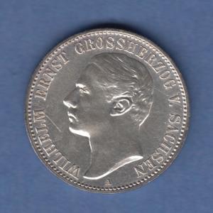 Deutsches Kaiserreich Sachsen-Weimar Großherzog Wilhelm Ernst 2 Mark A 1901 vz !