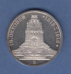 Deutsches Kaiserreich Sachsen Völkerschlachtdenkmal Leipzig 3 Mark 1913 E  PP !