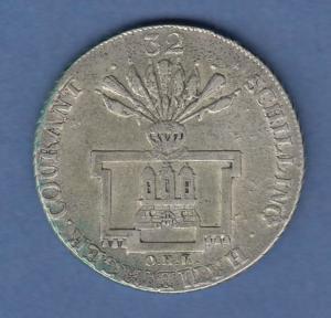 Hamburg 1795 Courantmünze 32 Schilling